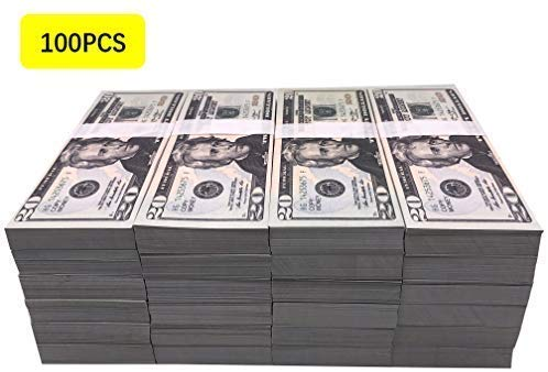 $100 200pc, Prop Money, Game Props, Video Props, Magic Props, $20,000, Bank Game Props The is Copy Money is a Replica of The Bill by EWIBUSA