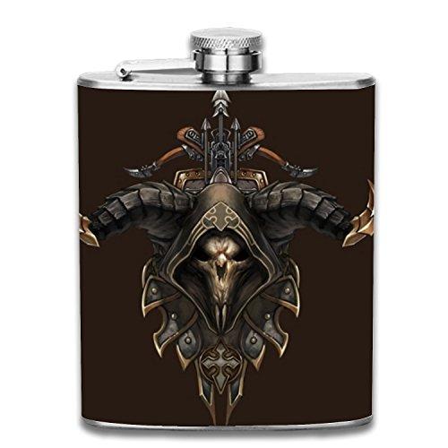 Diablo Demon Hunter Male Liquor Hip flask Stainless Steel Shot flasks Leak Proof Cool Gift For Men 7oz
