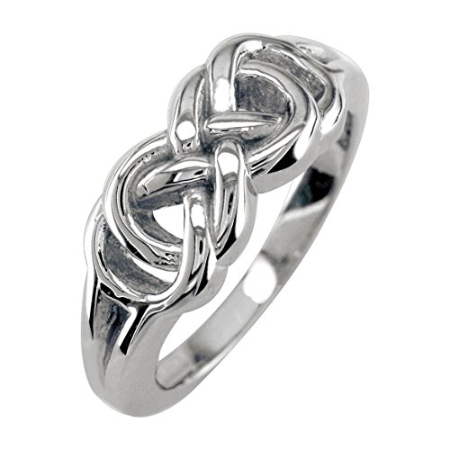 Mens or Womens Double Infinity Ring, 7.5mm in Sterling Silver size 5 by Sziro Infinity Rings