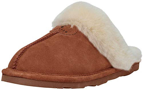 BEARPAW Women's Loki II Slide Slipper - Hickory, 9 B(M) US