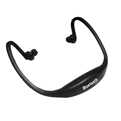 Clearance Sale ! Wireless Bluetooth Music Sports Stereo Headset Headphone for iPhone by Charberry (Black)