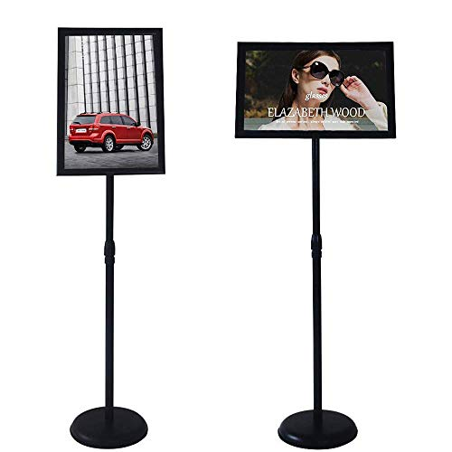 YDisplay Standing Sign Holder 8.5x11inches Pedestal Sign Stand Height Adjustable Displayed for School Church Exihibition