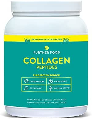 Further Food Collagen Peptides | Premium Grass-Fed, Keto Protein | Hydrolyzed Collagen Powder for Maximum Absorption (85 Servings)
