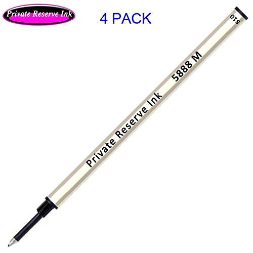 - 4 Pack - Private Reserve Ink Schmidt 5888 Black Medium Tip Metal Body Refill