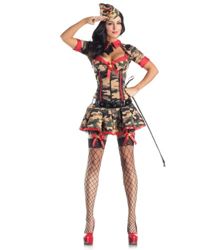 Army  (Womens Body Shaper Halloween Costumes)