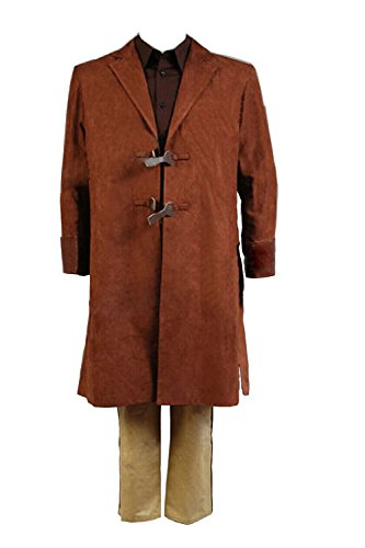 First Settler Costume (NoveltyBoy Men's Coat Shirt Pants Jacket Cosplay Brown Outfit Uniform Full Set Costume)