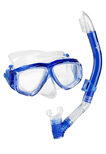 Mask Snorkel Sets (Speedo Adult Recreation Mask/Snorkel Set, Blue, One Size)