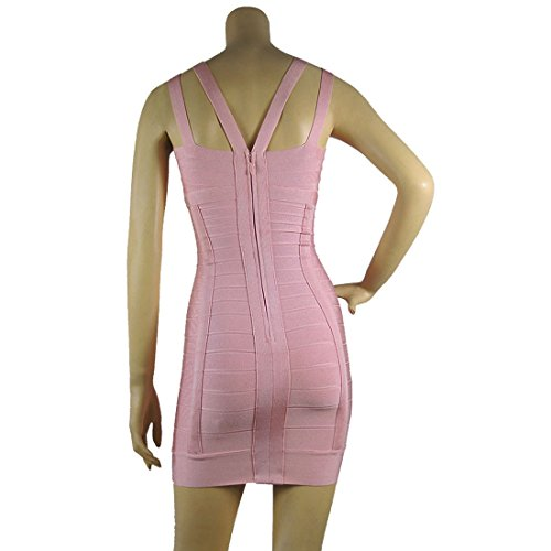HLBCBG - Vestido - Sin mangas - para mujer Rosa