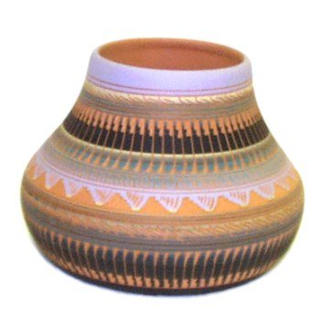 Navajo Etched Pottery ~ 5 Inch