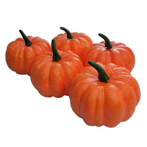 "Lorigun 3"" (80mm) Mini Artificial Pumpkins 5Pcs"