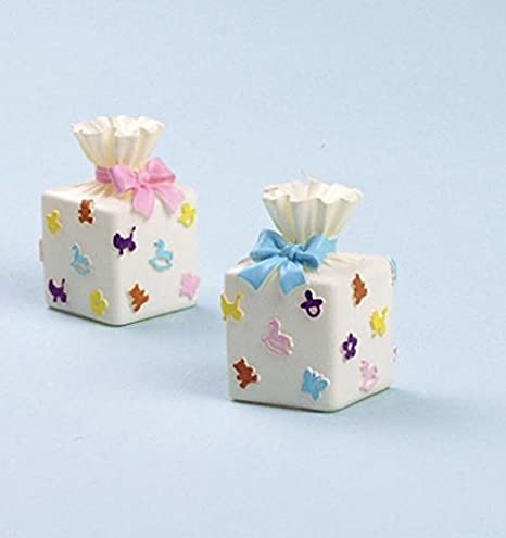 Caja de regalo de bebé molde de silicona para repostería, chocolate, jabón y vela: Amazon.es: Hogar