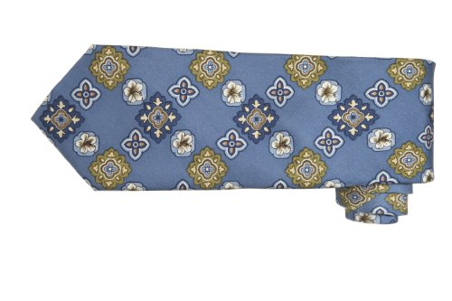 Tommy Bahama Necktie - Tommy Bahama Mens Tropic Medallion Silk Floral Neck Tie Blue O/S