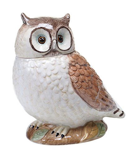 Certified International 25713 Rustic Nature 3D Owl Cookie Jar, 10