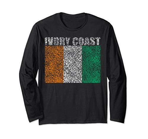 Vintage Ivory Coast Retro Long Sleeve Shirt T-Shirt -