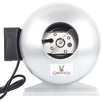 Growsun 4-inch Inline Duct Fan for Growing Tent,Quiet Inline Fan Exaust Blower