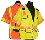 ML Kishigo - Surveyors Series Polyester / Ultra-Cool Mesh Safety Vest - Class 3, size: X-large, color: Orange