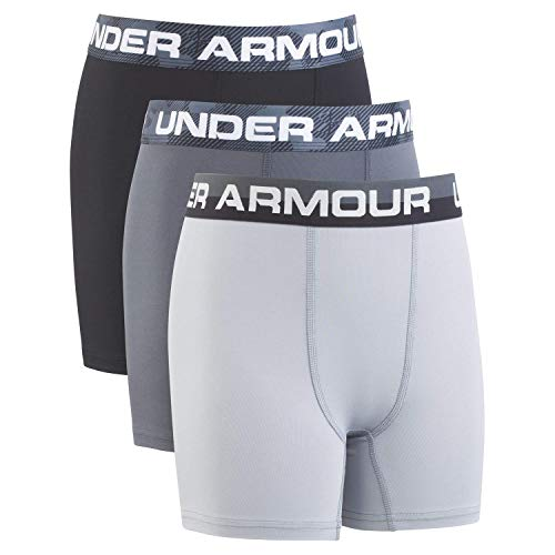 - Under Armour Boys' Big 2 Pack Performance Boxer Briefs, Pitch Gray, YLG