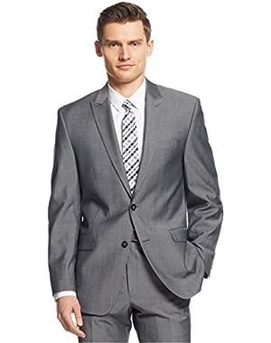 Calvin Klein Slim Fit Grey Textured Wool Two Button New Men's Sport Coat