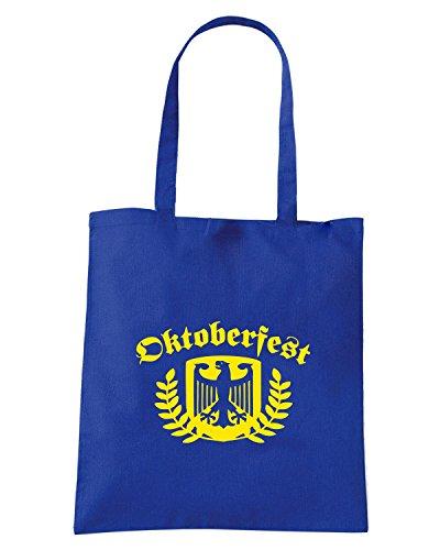T-Shirtshock - Bolsa para la compra BEER0094 oktoberfest 2010 dark tshirt (1) Azul Real