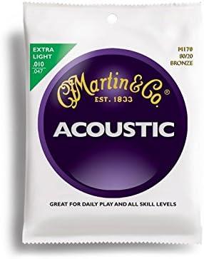 Martin Martin M170 - Cuerda para guitarra de bronce, 10-14-23-30-39-47