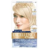 L'Oreal Paris Excellence Creme Haircolor, Extra Light Natural Ash Blonde [01] (Pack of 2)