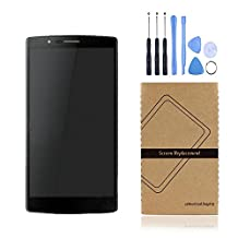 Universal Buying(TM)LG Google Nexus 5 LCD,LCD Display Touch Screen Digitizer Assembly Cell Phone Replacements With Frame for LG Google Nexus 5 D820 D821 (LG Nexus 5 with frame black)