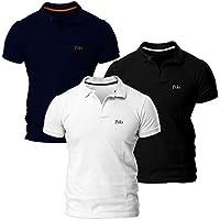 Kit com 3 Camisas Básica Piquet, Polo Match, Masculino