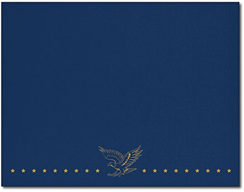 Patriotic Navy Foil Certificate Cover - 25 Covers by Desktop Publishing Supplies, Inc.