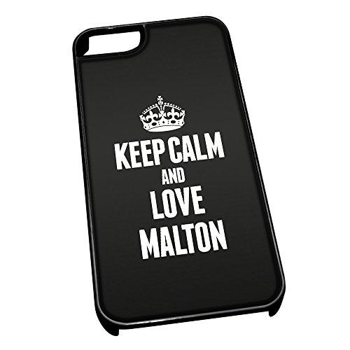 Nero cover per iPhone 5/5S 0415nero Keep Calm and Love Malton