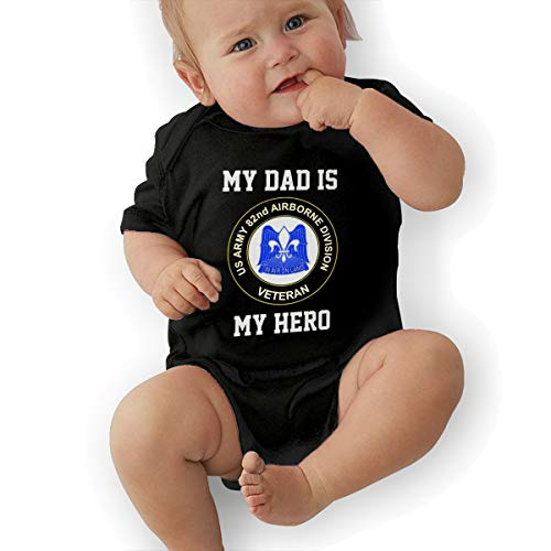 My Dad is My HeroUS Army 79th Sustainment Support Command Veteran Army Baby Onesie Organic Short-Sleeve Bodysuit Black