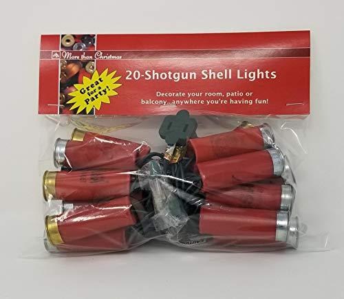 More Than Christmas 20-Shotgun Shell Light - Christmas Shell Lights Shotgun