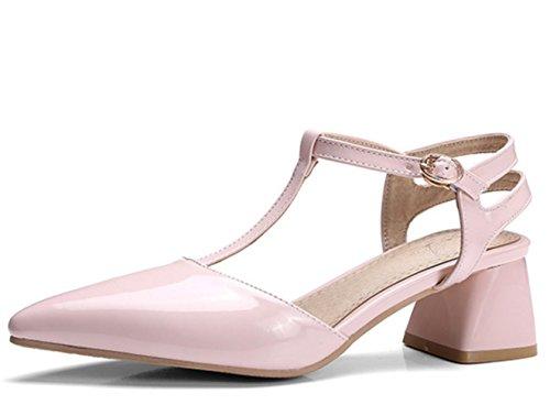 YCMDM tacchi alti donna I nuovi sandali in pelle verniciata estate hanno puntato le scarpe di grandi dimensioni , pink , 43 custom 2-4 days do not return