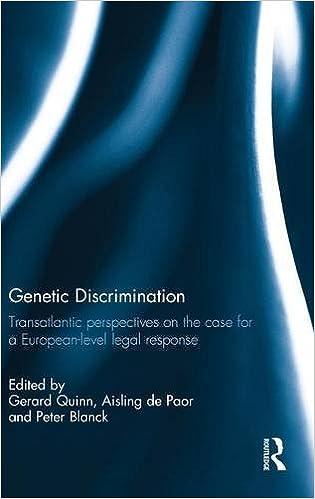 Genetic Discrimination Transatlantic Perspectives on the Case for a European Level Legal Response