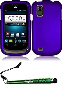 FoxyCase(TM) FREE stylus AND For ZTE Prelude Z992 Avail 2 Z993 Rubberized Cover Case - Purple cas couverture