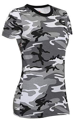 Rothco Womens Long Length Camo T-Shirt, City Camo, M