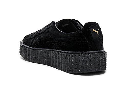 Puma X Fenty Di Rihanna Sneaker Da Donna Creeper In Velluto Nero