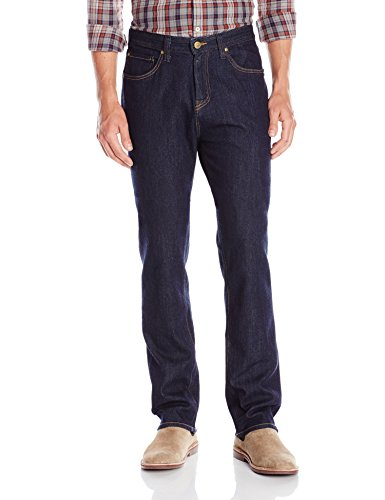 Agave Men's Waterman Relaxed Straight 5 Pocket Zip Fly Jeans in Rinse, Bixby, (Five Pocket Zip Fly Jeans)