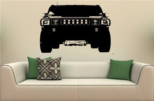 HUMMER H2 Front Bumper Wall Art Sticker Decal 1670