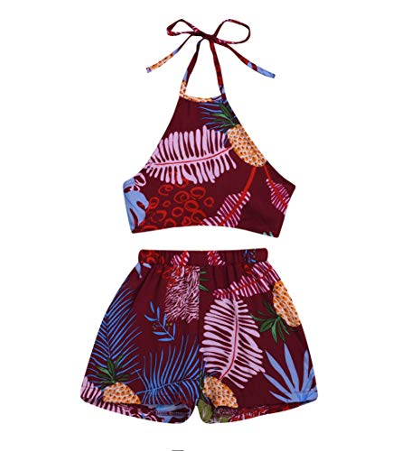 MA&BABY Baby Girls Halter One-Pieces Romper Jumpsuit Sunsuit Outfit Clothes 0-24M (12-18 Months, Purple)