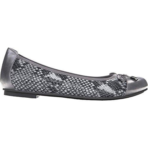 Women's Vionic 'Minna' Leather Flat, Size 8 M - Grey