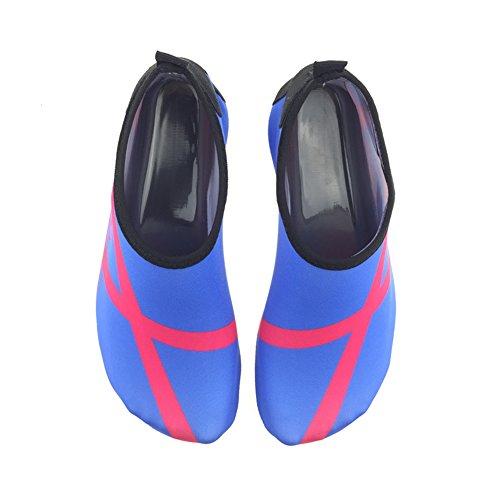 SENFI Wasserschuhe athletische Aqua-Socke für Wasser-Sport-Strand-Pool-Boot C.blau