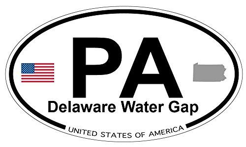 (Delaware Water Gap, Pennsylvania Oval Magnet)