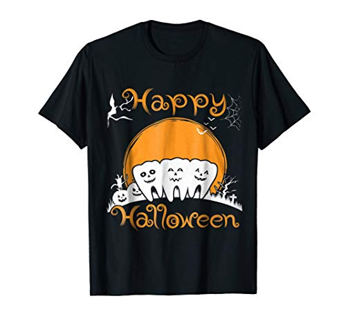Funny costume DENTAL Halloween Shirt Pumpkin dental love -