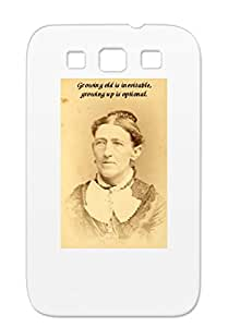 Black Growing Up Is Optional Satire Funny Cover Case For Sumsang Galaxy S3 TPU