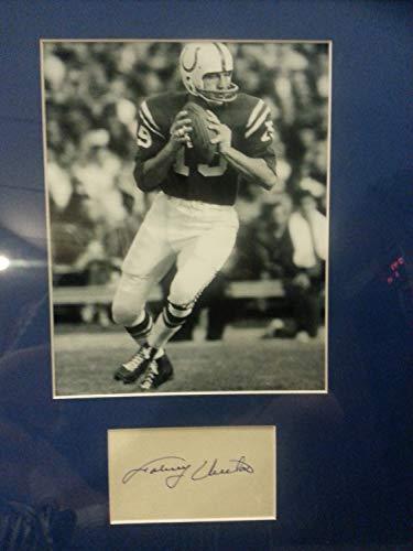 (Johnny Unitas Autographed Signed Framed Signature Cut W / 8 X 10 Photo/Memorabilia JSA Cert)