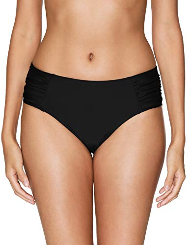(Charmo Black Swimsuit Bottoms high Cut Bikini Bottom Women Swim Bottoms L )