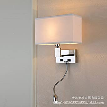 Modern LED Wall Lights, Bedroom Wall Lights, The Hotel Bed Stainless Steel Wall  Lights [Energy Class A+++]