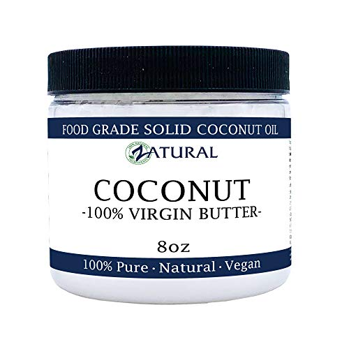 Coconut Butter-NakedOil 100% Coconut Oil, Organic Extra Virgin Unrefined Cold Pressed Coconut Oil. Certified Food and Therapeutic Grade (8 Ounce)