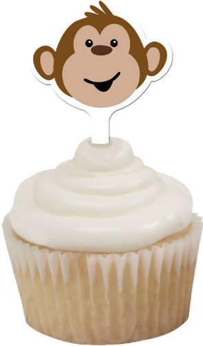 12-Count Cupcake Topper Decorative Picks, Monkeyin' Around