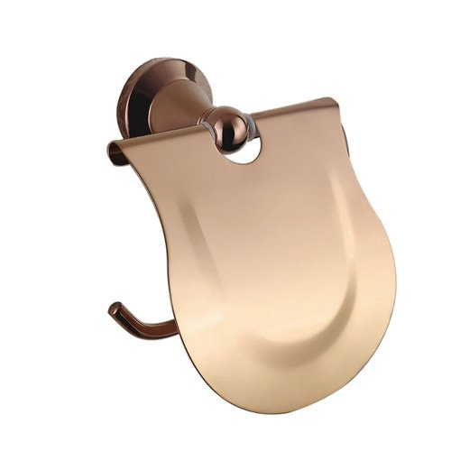 Cloud Power Rose Gold Color Brass Toilet Paper Holders With Titanium Wall-mounted